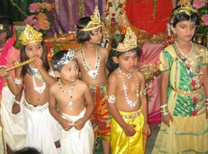 Acting out the legend of Lord Krishna