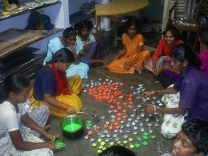 Production line for diwali diyas